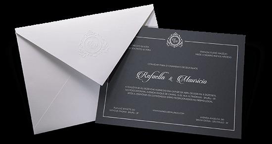 Convite de Casamento Clássico França G 2018