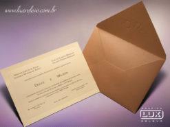 Convite de Casamento Clássico Moderno França GG