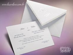 Convite Clássico Romântico Floral França M