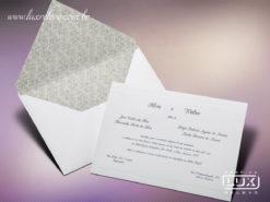 Convite de Casamento Clássico Romântico Floral França M