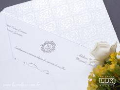 Convite de Casamento Clássico França M Perolizado Promocional