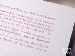 Convite de Casamento Moderno Romântico Floral França P