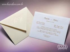 Convite de Casamento Clássico Luxo França PP