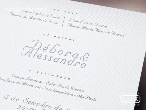 Convite de Casamento Moderno Clássico Grécia G