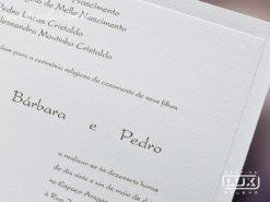 Convite de Casamento Moderno Clássico Grécia M
