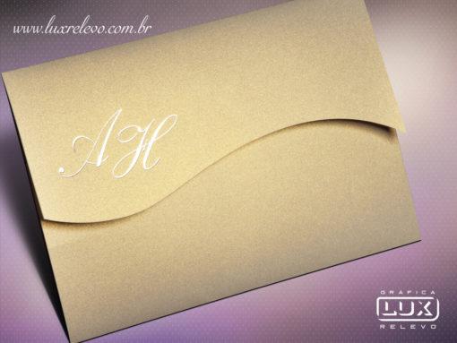 Convite Clássico Romântico Luxo Hawaí G