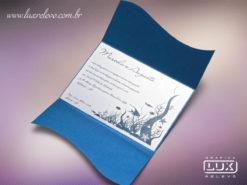 Convite de Casamento Rústico Hawaí M