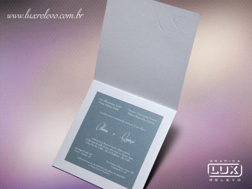 Convite Clássico Romântico Luxo Holambra M