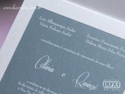 Convites de Casamento Clássico Romântico Luxo Holambra M
