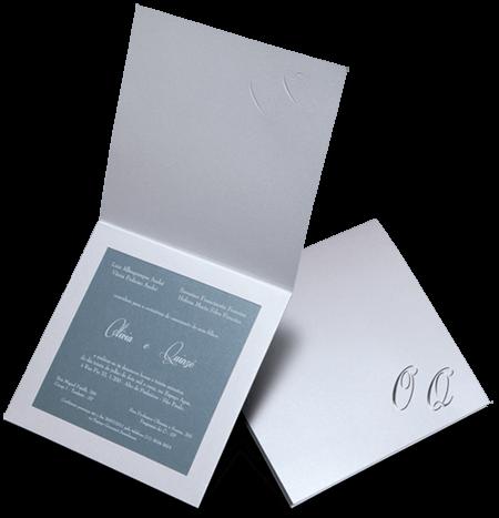 Convite de Casamento Clássico Romântico Luxo Holambra M