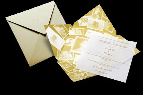 Convite de Casamento Romântico Ibiza M