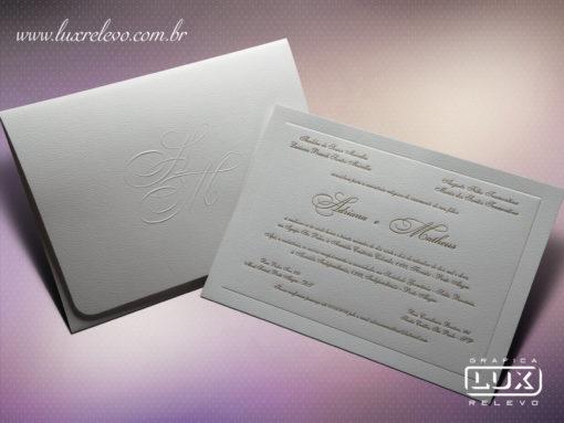 Convite Clássico Luxo Itália G