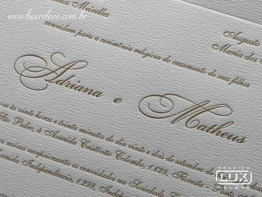 Convite de Casamento Clássico Luxo Itália G