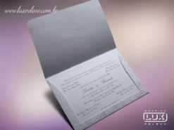 Convite de Casamento Clássico Romântico Floral Luxo Itália GG