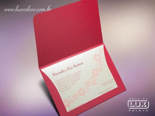 Convite de Casamento Romântico Itália M