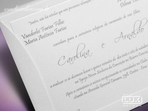 Convite de Casamento Romântico Itália P