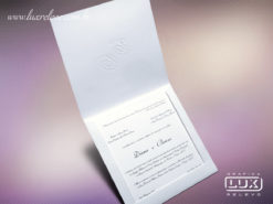 Convite de Casamento Clássico Jacarta M