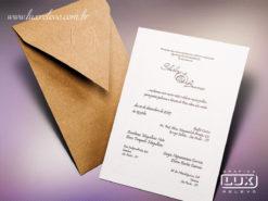 Convite de Casamento Rústico Japão M