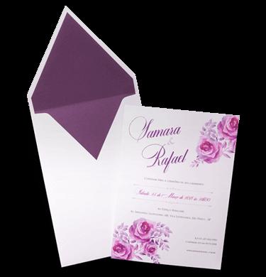 Convite de Casamento Romântico Floral Aquarela Japão M 2019