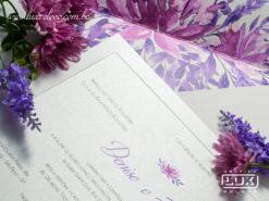 Convite Romântico Clássico Floral Aquarela Lille G 2018