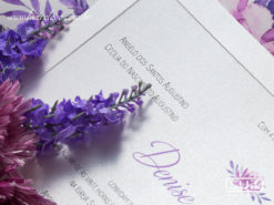 Convite de Casamento Romântico Clássico Floral Aquarela Lille G 2018