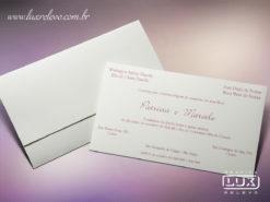 Convite de Casamento Romântico Floral Luxo Milão XG
