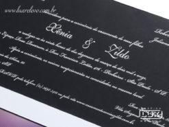 Convite de Casamento Clássico Mônaco G