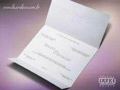 Convite de Casamento Moderno Moscow M