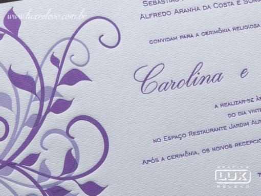 Convite de Casamento Romântico Floral Luxo Nova York G
