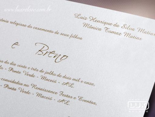 Convite de Casamento Romântico Porto Alegre M