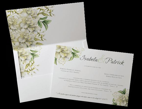 Convite de Casamento Romântico Floral Aquarela Pretória G 2018