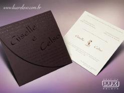 Convite de Casamento Romântico Rústico San Francisco M