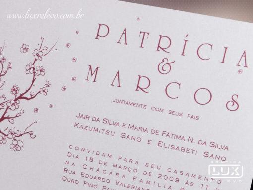 Convite de Casamento Romântico Floral São Paulo P