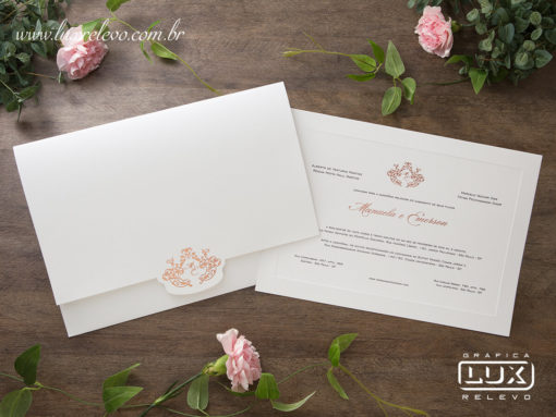Convite de Casamento Clássico Luxo Seoul GG 2018