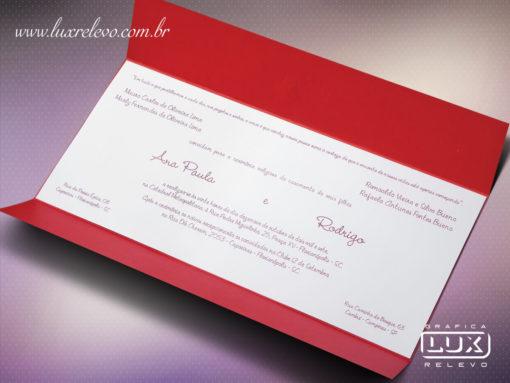 Convite de Casamento Romântico Sidney Horizontal G