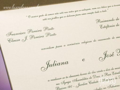 Convite de Casamento Clássico Rústico Sidney M