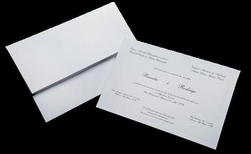 Convite de Casamento Clássico Suécia GG