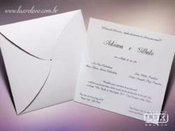 Convite de Casamento Romântico Moderno Taiwan M