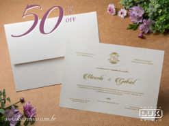 Convite Clássico Romântico Toulouse G Promocional