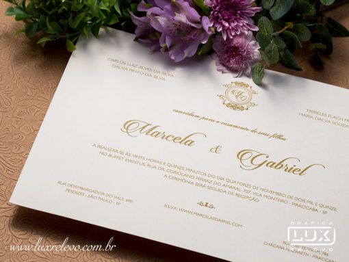 Convite de Casamento Clássico Romântico Toulouse G Promocional