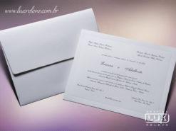 Convite de Casamento Clássico Luxo Turim GG