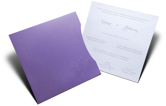 Convite de Casamento Romântico Vancouver Quadrado M