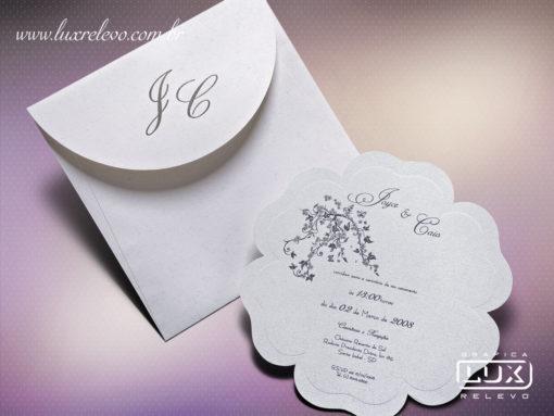 Convite Romântico Floral Veneza M