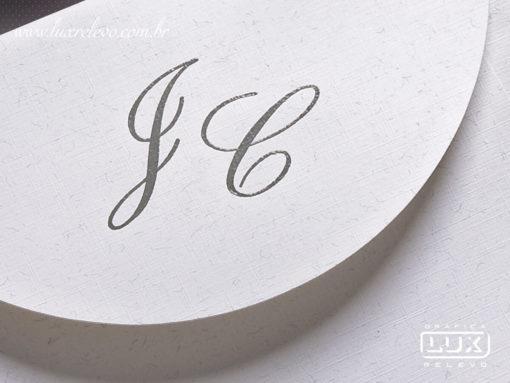 Convite de Casamento Romântico Floral Veneza M