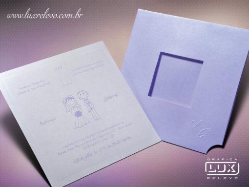 Convite de Casamento Romântico Vienna M