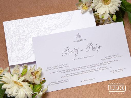 Convite de Casamento Romântico Yokohama M Promocional