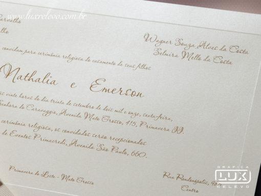 Convites de Casamento Clássico Luxo Yokohama XG