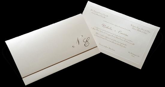 Convite de Casamento Clássico Luxo Yokohama XG