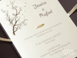 Convite de Casamento Romântico Zurique P
