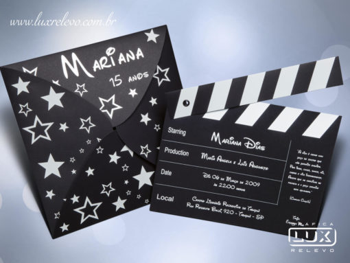 Convite 15 Anos Moderno Hollywood M